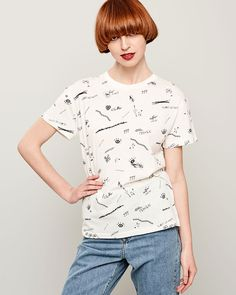 GRAPHIC T-SHIRT Peplum, Spring Summer, Blouse, T Shirt, Collection, Tops, Fashion, Supreme T Shirt, Moda
