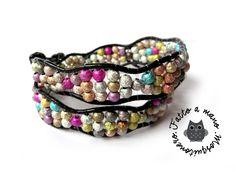 Bracciale DONNA Chan Luu style glitter onde braccialetto wrap bracelet : Braccialetti di mosquitoneroshop