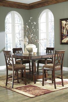 Ashley Furniture Leahlyn 5 Piece Counter Dining Set | JACKS WAREHOUSE