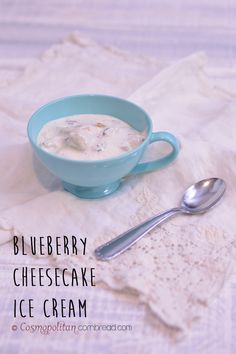 Blueberry Cheesecake Ice Cream from Cosmopolitan Cornbread | #SundaySupper