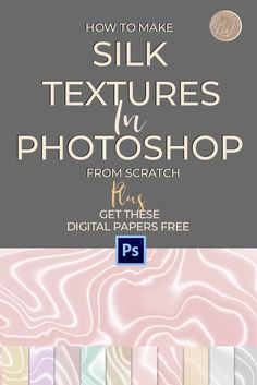 Learn how to use Photoshop filters and gradients to make a siky satin texture inside of Photoshop. This is a super easy method that gives you more control Photoshop Design, Photoshop Tutorial, Photoshop Youtube, Cool Photoshop, How To Use Photoshop, Photoshop Tips, Lightroom, Photoshop Training, Photoshop Lessons