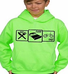 Vinylworld Boys Electric Fluorescent Green Sweater Hoodie Eat, Sleep, BMX (9/11 years) Boys fluorescent green electric hoodie. Eat, Sleep, Bmx Great gift for Christmas or Birthdays. (Barcode EAN = 0706695574979). http://www.comparestoreprices.co.uk/december-2016-week-1/vinylworld-boys-electric-fluorescent-green-sweater-hoodie-eat-sleep-bmx-9-11-years-.asp