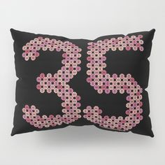 #35 #Design made by 🏀#Dots 25% Off Everything with Code FRESH25 visit my SHOP https://society6.com/ballskulldesign  #number #BBall #balldots #dotart #hoop #basketball #pink #ball #off #バスケ #ボール #ドット絵 #デザイン