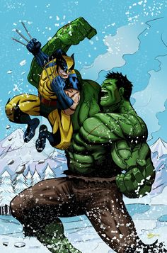 #Hulk #Fan #Art. (Wolverine Vs The Hulk Cover) By: Richard Garcia. (THE * 5 * STÅR * ÅWARD * OF: * AW YEAH, IT'S MAJOR ÅWESOMENESS!!!™)[THANK Ü 4 PINNING<·><]<©>ÅÅÅ+