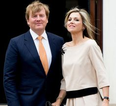 King Willem-Alexander and Queen Maxima of The Netherlands visited the Dutch Embassy Residence of Ambassador Bekink on May 31, 2015 in Washington, United States.
