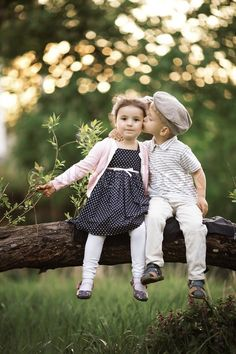 little girl and little boy kissing - Google Search
