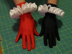 The Literary Assassin: Harley Quinn costume pattern wrist ruffles tutorial