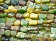 12mm to 8mm Grass Valley Picasso Mix Different by beadsandbabble, $6.99