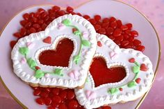Cookie Decorating Tip: Glass Heart Cookies