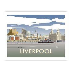 Liverpool Skyline Print