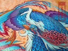 Phoenix (Head detail)  Art by Paulo Barbosa -  Ariuken Art on Facebook