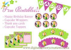 Free Tinkerbell Party Printables