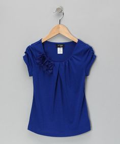 Take a look at this Cobalt Rosette Minty Me Top by 2 hip by Wrapper on #zulily today!