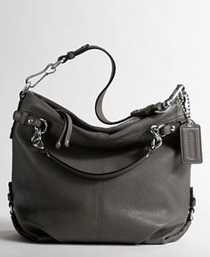 grey Coach purse <3 I have this in black and love it! I'm a coach junkie!
