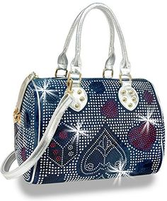 Las Vegas Bling Gambling Design Rhinestone Covered Womens Satchel Handbag * For more information, visit image link.Note:It is affiliate link to Amazon.