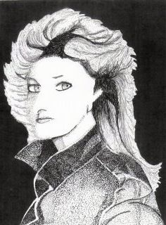 8.5 x 11 Bonnie Tyler / did this at Mt View studying Fine Arts
