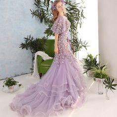 Elegant Mermaid Evening Dresses Short Sleeves Beaded vestido de gala 2016 Long robe de soiree Princess Womens Prom party Dresses