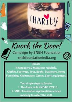KnockTheDoor! A campaign by SNEH Foundation. The Idea is to involve privilege section of the society to #help the marginalized section.