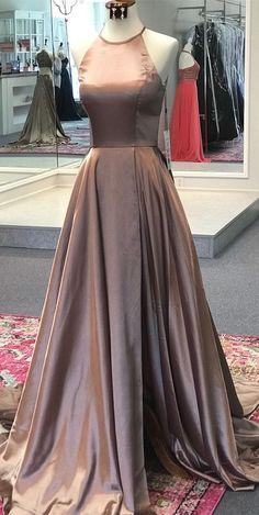 Prom Dresses A-Line #PromDressesALine, Simple Prom Dresses #SimplePromDresses, Long Prom Dresses #LongPromDresses