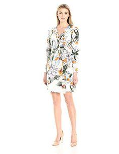 Lark /& Ro Damen Long-Sleeve Wrap Dress Marke