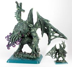 chaos cthulhu Figurines Warhammer, Alternate Worlds, Reaper Miniatures, Hp Lovecraft, Warhammer Models, Playing Games, Cthulhu, Fantasy World, Awesome Stuff