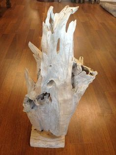 Natural Ready Made Drift Teak Wood Sculpture from Indonesia