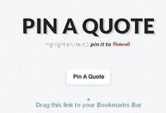 pinaquote: Une application pour partager du contenu sur Pinterest
