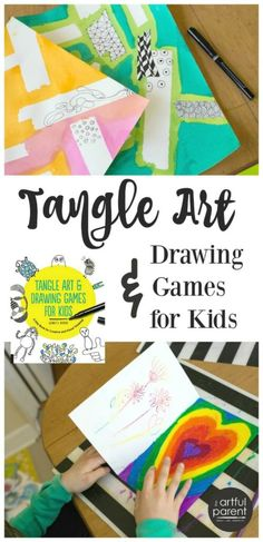 A Highly Recommended Kids Art Activities Book that o suggest EVERY PARENT should have a copy of! Tangle Art and Drawing Games for Kids Drawing Games For Kids, Drawing Activities, Art Activities For Kids, Creative Activities, Creative Kids, Indoor Activities, Summer Activities, Learning Activities, Preschool Activities