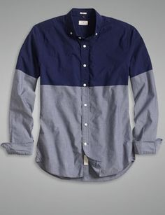 COLOR BLOCKING The Laundered Pennant Shirt - True Indigo - Dockers