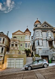 San Fancisco Architecture : San Francisco Victorians by Joseph Fronteras, via San Francisco City, San Francisco California, California Dreamin', Victorian Architecture, Architecture Design, Residential Architecture, San Diego, Second Empire, Ansel Adams