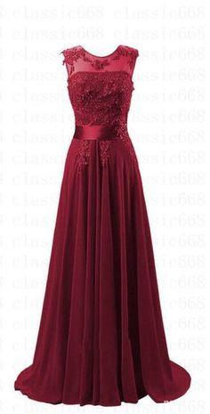 Abendkleider Cocktailkleid Ballkleider Brautkleider Brautjungfern Party  Gr 32-42 Rotes Langes Kleid, Rotes 4ee3e9b731