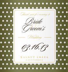 Wedding Koozie Templates - Need #wedding favors? WE got them customized for you! #weddingfavors - Kooziez.com