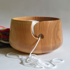 Ash Wooden Yarn Bowl