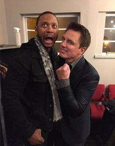 Diggle and Malcolm...David Ramsey visiting John Barrowman at his concert! Awesome