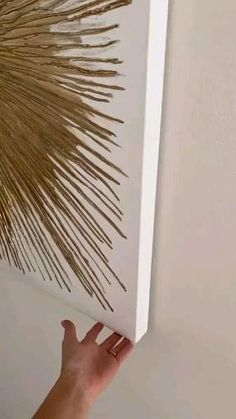 Diy Wall Decorations, Diy Crafts For Home Decor, Diy Crafts Hacks, Diy Arts And Crafts, Diy Room Decor, Art Decor, Diys, Stick Wall Art, Diy Wall Art