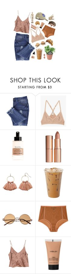 """wanna go again?"" by cliffordcoffee ❤ liked on Polyvore featuring Essie, Base Range, Giorgio Armani, Charlotte Tilbury, LC Lauren Conrad, Land of Women and Inglot"