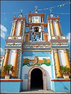 Cupilco, Tabasco, Mexico - #Mexico #Mexican #church - to purchase folk art churches of clay, visit www.mainlymexican...