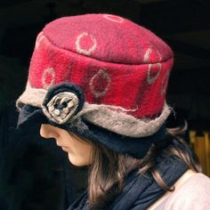 felt hat handmade in france red band created by jannio $85  #fashion #accessories #hats