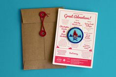 Add a patch? Chris and Leesa Wedding Invitation in Direct Mail Examples