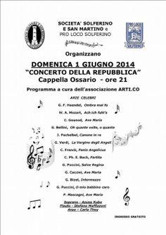 Domenica 1 Giugno 2014 si terrà a Solferino il Concerto della Repubblica 2014 @GardaConcierge