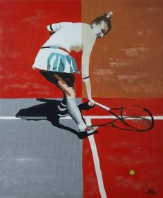 "Saatchi Art Artist Andreea Oprisan; Painting, ""Shades of Tennis"" #art"