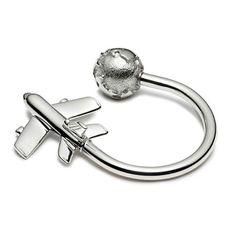 Tiffany Plane & Globe keyring
