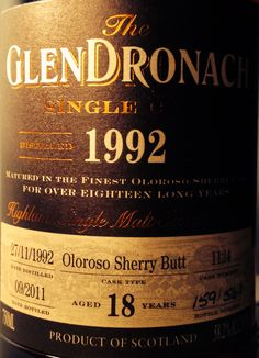 GlenDronach Single Cask 1992/2011 18yo 58.2% (561 bottles)
