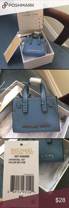 Baby Blue MK Key Charm Bag Adorable miniature MK key charm bag. Brand new. KORS Michael Kors Accessories