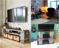 applications du parpaing creux pour en fabriquer des meubles