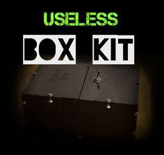 USELESS BOX KIT #awesome #box #Darren Barnard #design #DIY #tech #useless box Awesome Box, Diy Tech, Entertaining, Kit, Design, Design Comics, Funny, Entertainment