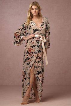 Laurie Velvet Robe from @BHLDN