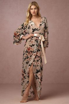 Laurie Velvet Robe from @BHLDN