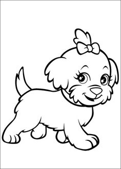 Cute Puppy Image to Print and Color 033 | Pinterest | Dog, Printing ...