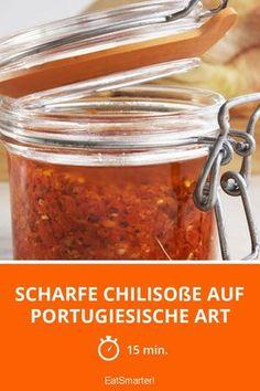 Soße der scharfen Paprikas in der portugiesischen Art - Essen Cooking Sauces, Cooking Recipes, Pesto Dip, Chutney, Dips, Vegan Recipes, Clean Eating, Food And Drink, Tasty